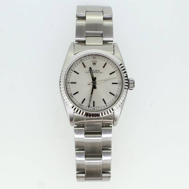 Pre-Owned Mid Size Rolex Watch, Silver Dial