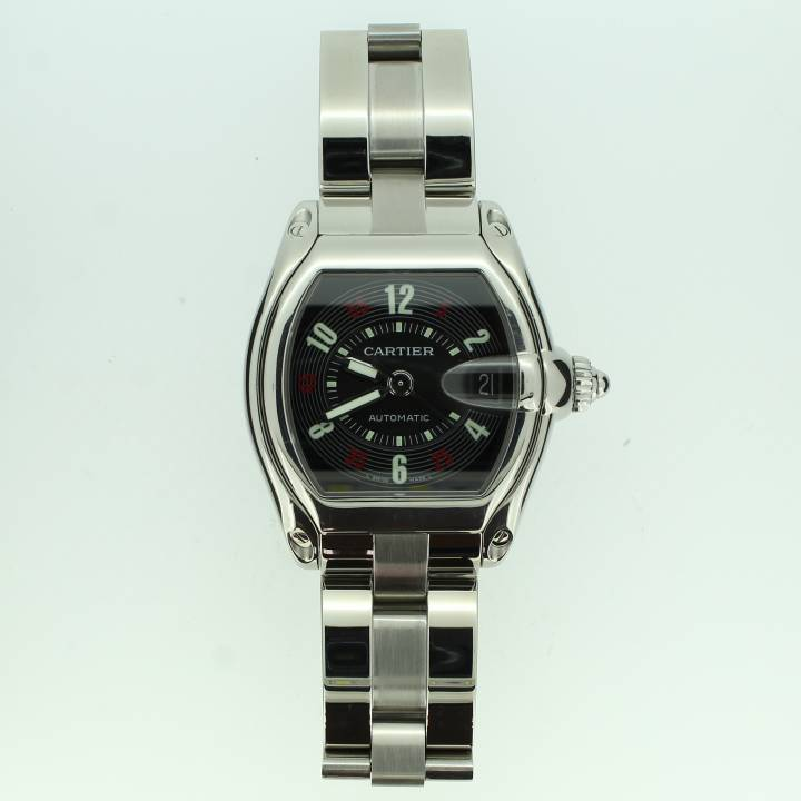 Pre-Owned Gents Cartier Roadster Watch, Black Dial 1702284