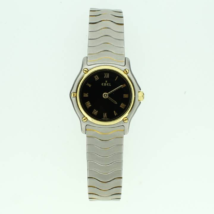 Pre-Owned Ladies Ebel Classic Wave Watch, Black Dial 1709096