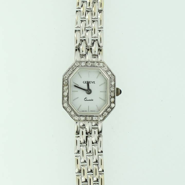 Pre-Owned Ladies 14ct Geneve Watch, Diamond Set Case 1709297