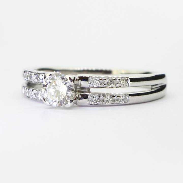 Pre-Owned 18ct White Gold Diamond Solitaire Ring, 0.46ct Total