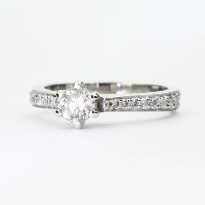 Pre-Owned 18ct White Gold Diamond Solitaire Ring 0.72ct Total 7101207