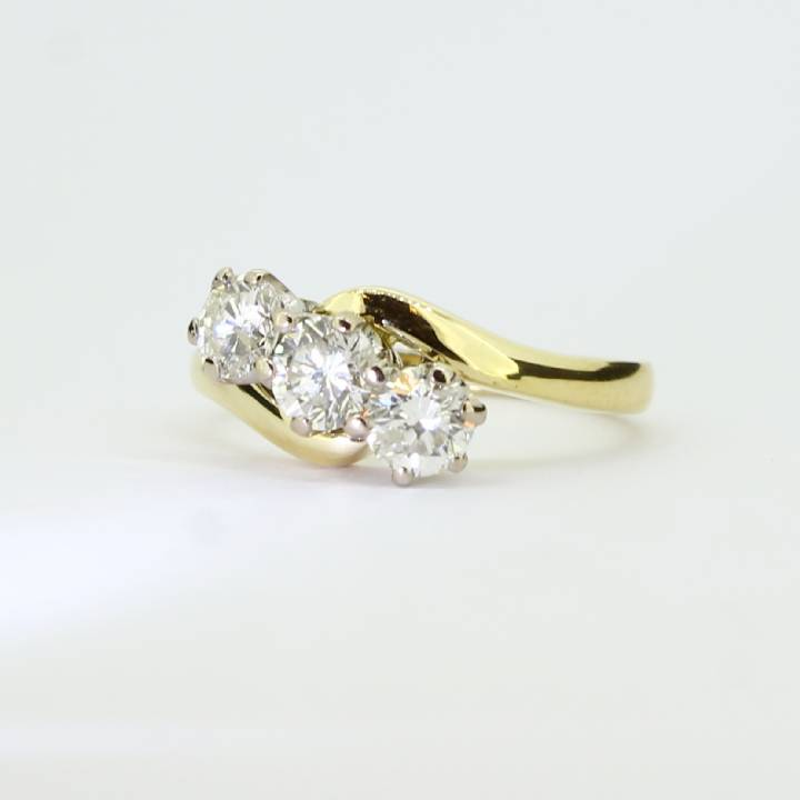 Pre-Owned 18ct Yellow Gold Diamond 3 Stone Ring 1.03ct Total 1604832