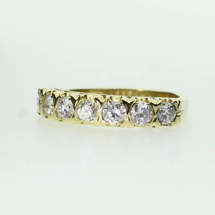 Pre-Owned 18ct Yellow Gold Diamond Half Eternity Ring