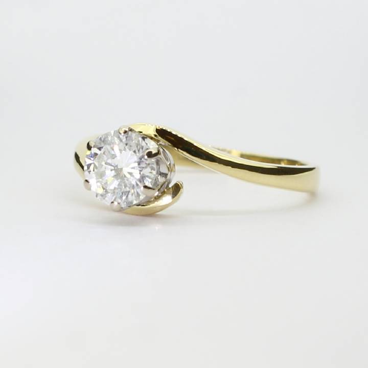 Pre-Owned 18ct Yellow Gold Diamond Solitaire Ring 0.64ct 7101195