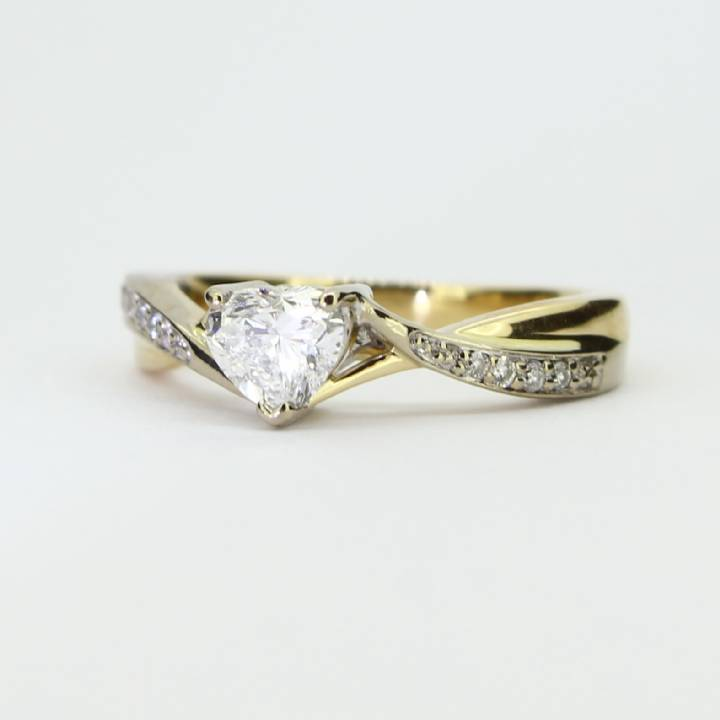 Pre-Owned 18ct Yellow Gold Diamond Solitaire Ring, 0.52ct 1601495