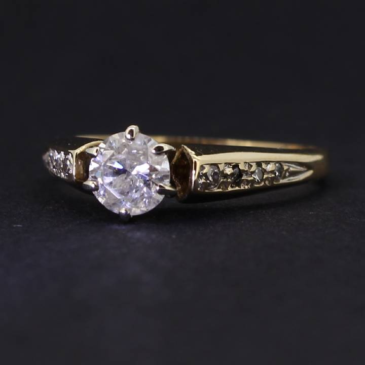 Pre-Owned 14ct Yellow Gold Diamond Solitaire Ring 0.57ct Total