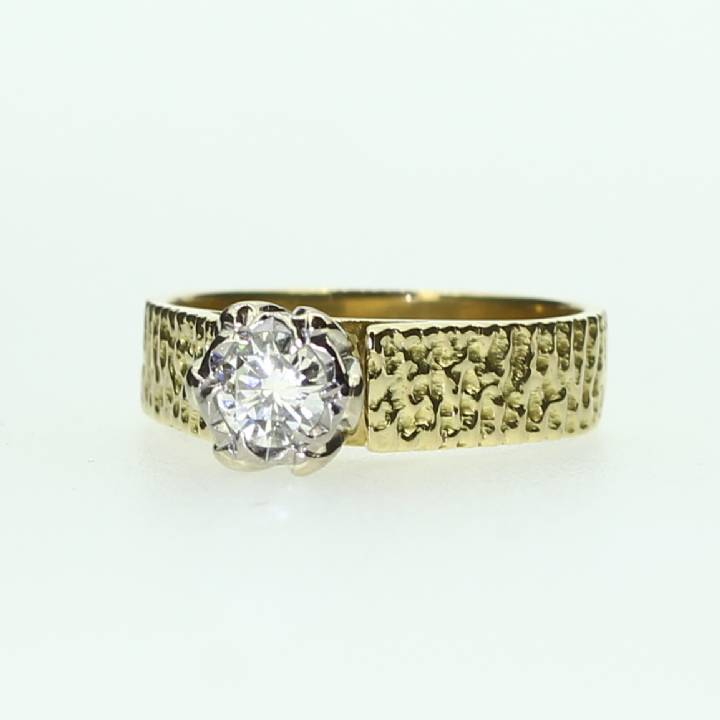 Pre-Owned 18ct Yellow Gold  Diamond Solitaire Ring 0.33ct 7101136