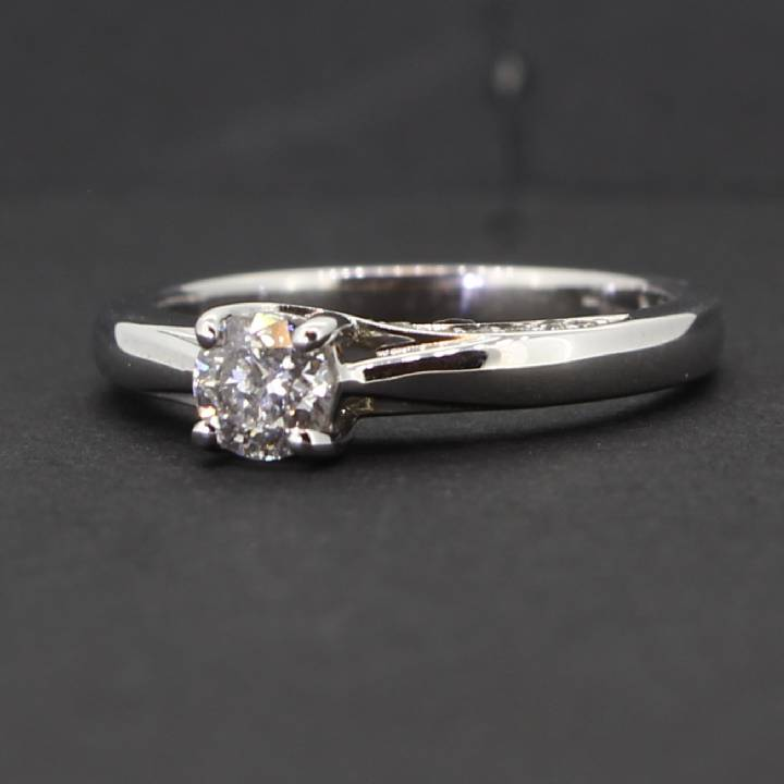 Pre-Owned 18ct White Gold  Diamond Solitaire Ring 0.40ct 1601785