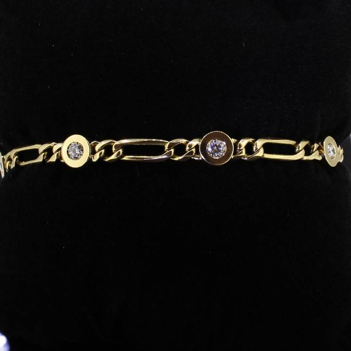 Pre-Owned 18ct Yellow Gold Diamond Bracelet 0.78ct Total 1607266