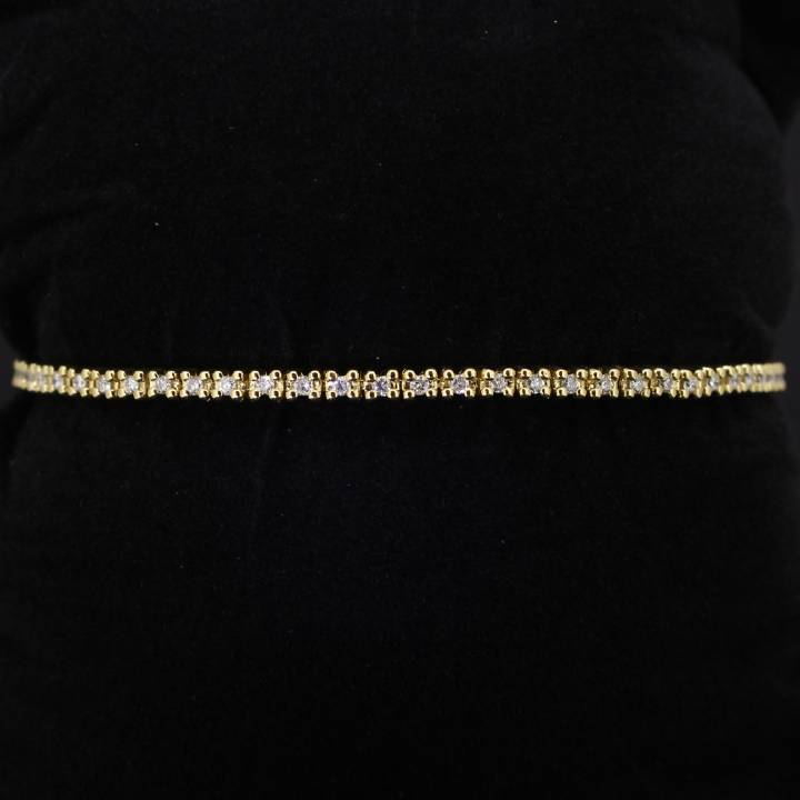 Pre-Owned 18ct Yellow Gold Diamond Line Bracelet 1.00ct