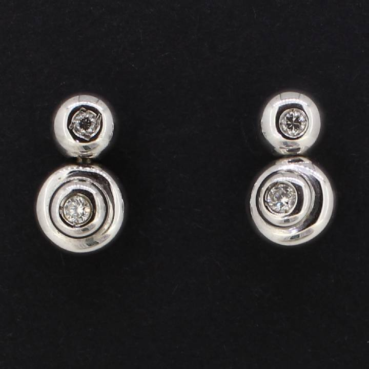 Pre-Owned 18ct White Gold  Diamond Set Earrings 1607134