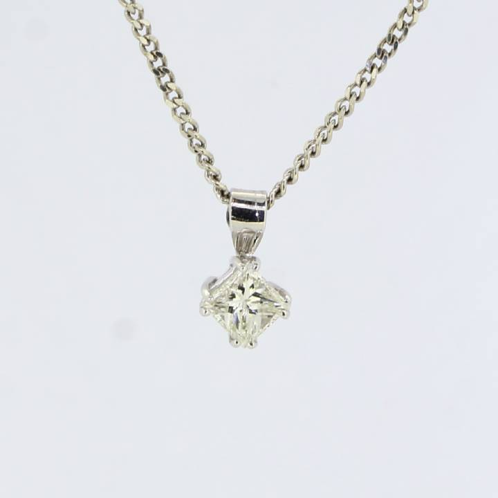 Pre-Owned 18ct White Gold Diamond Solitaire Pendant 0.68ct