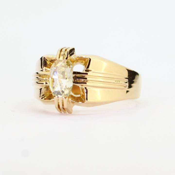 Pre-Owned Gents 18ct Yellow Gold Diamond Solitaire Ring 0.21ct 1602027