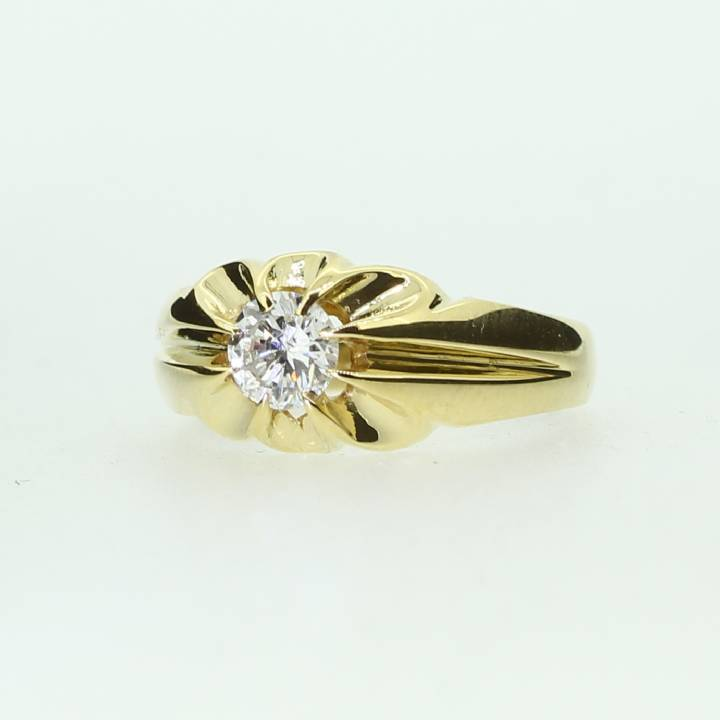 Pre-Owned 18ct Yellow Gold  Gents Diamond Solitaire Ring