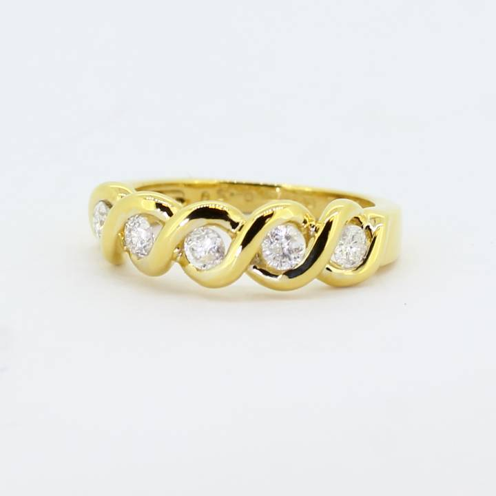 Pre-Owned 18ct Yellow Gold Diamond 5 Stone Ring, 0.50ct