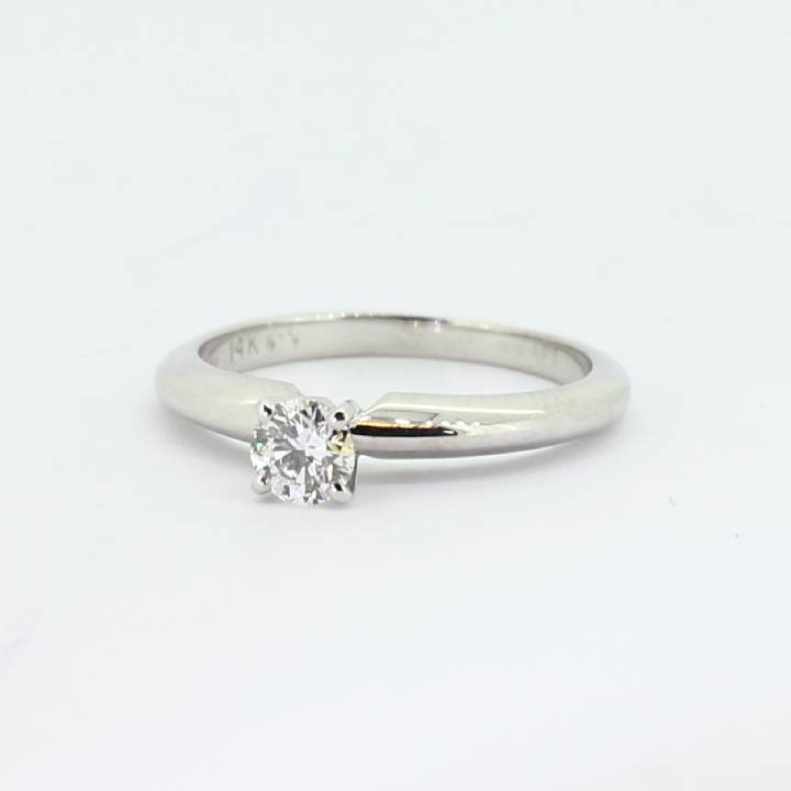 Pre-Owned 14ct White Gold Diamond Solitaire Ring 0.25ct