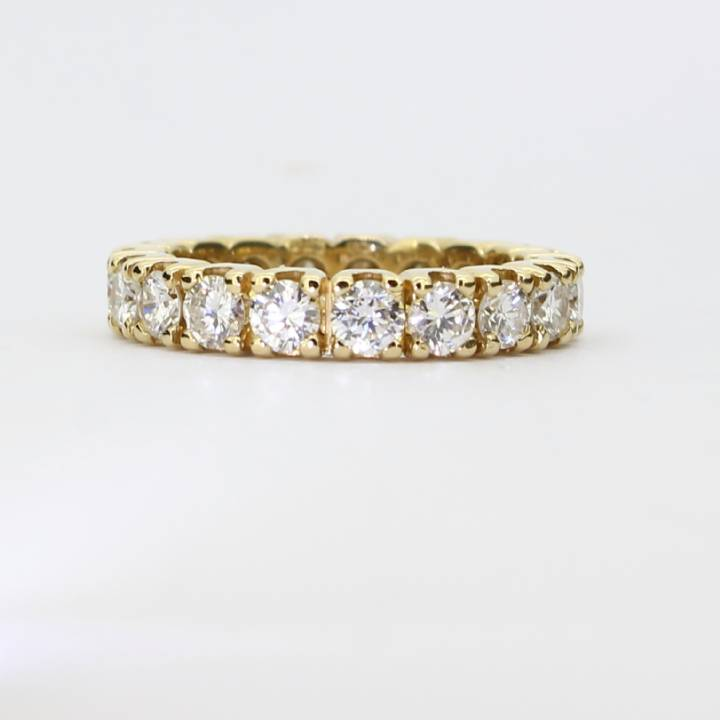 Pre-Owned 18ct Yellow Gold Full Eternity Diamond Ring, 2.82ct