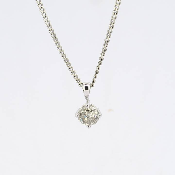 Pre-Owned 18ct White Gold Diamond Solitaire Pendant 0.80ct