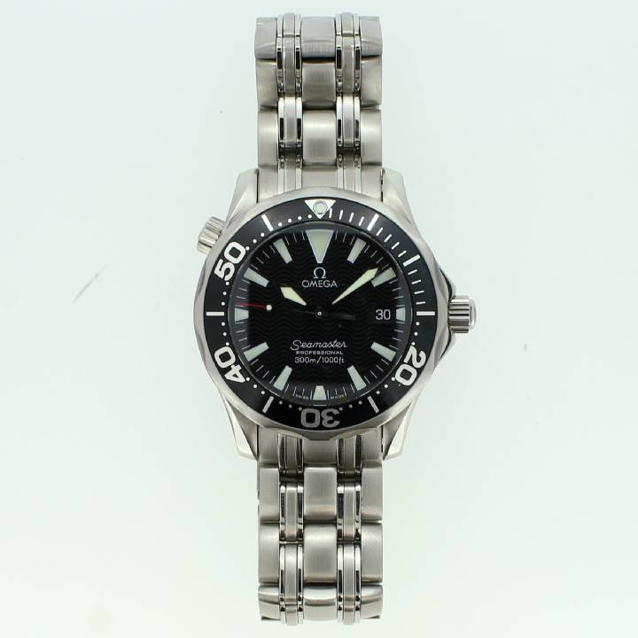 Pre-Owned Mid-Size Omega Seamaster 300m Watch, Black Dial 1703403