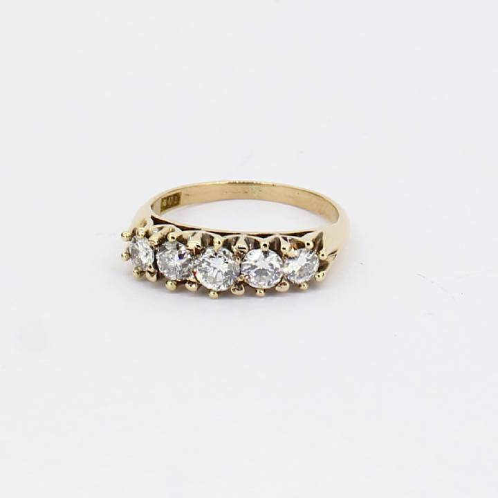 Pre-Owned 18ct Yellow Gold Diamond 5 Stone Ring 0.80ct Total