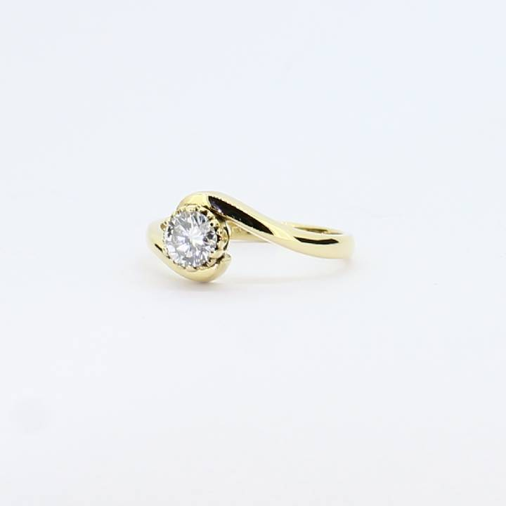 Pre-Owned 18ct Yellow Gold Diamond Solitaire Ring 0.31ct 1601664