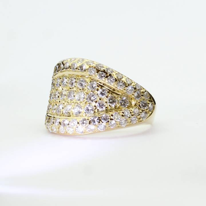 Pre-Owned 18ct Yellow Gold Diamond Cluster Ring 2.00ct Total 1605478