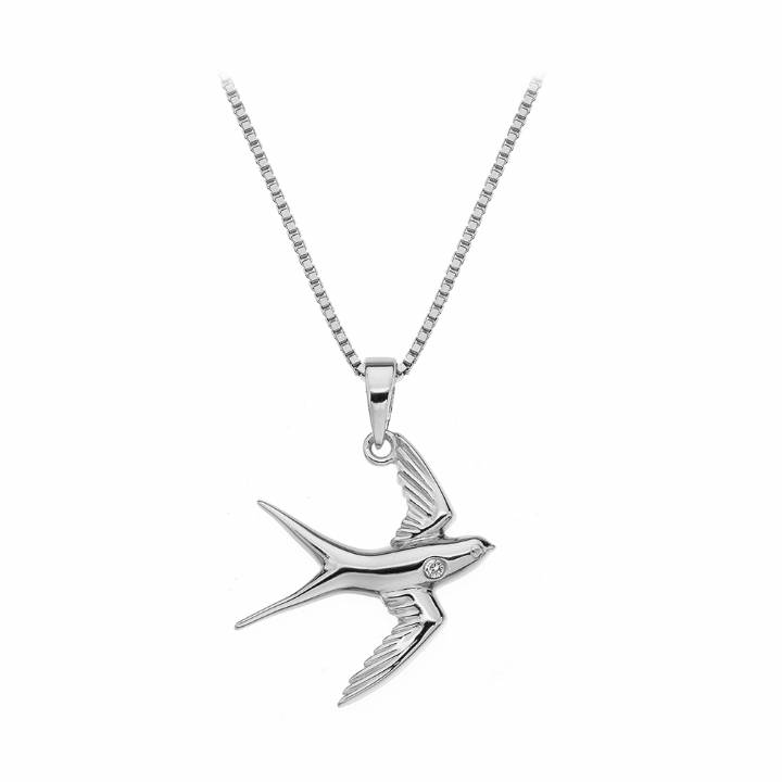 Hot Daimonds Paradise Swallow Pendant And Chain 2210011