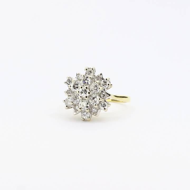 Pre-Owned 18ct Yellow Gold Diamond Cluster Ring, 0.85ct 1605259