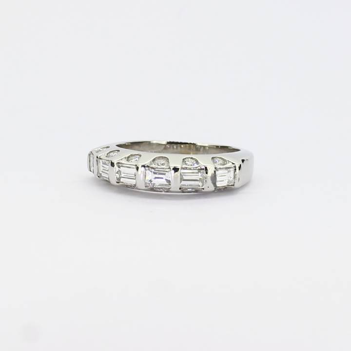 Pre-Owned Platinum Diamond Half Eternity Ring, 1.05ct 1603247