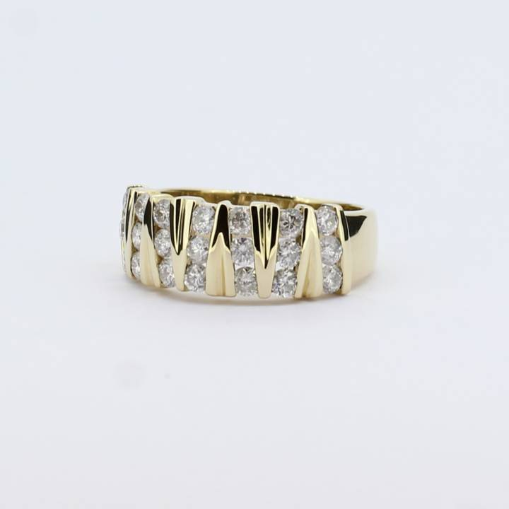 Pre-Owned 9ct Yellow Gold Diamond Fancy Band Ring 1.00ct Total