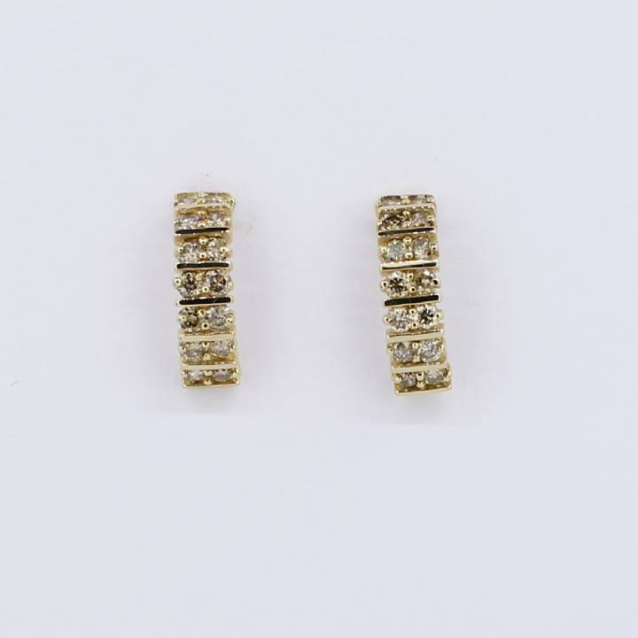Pre-Owned 18ct Yellow Gold Diamond Half Hoop Earrings 1.68ct 1607365