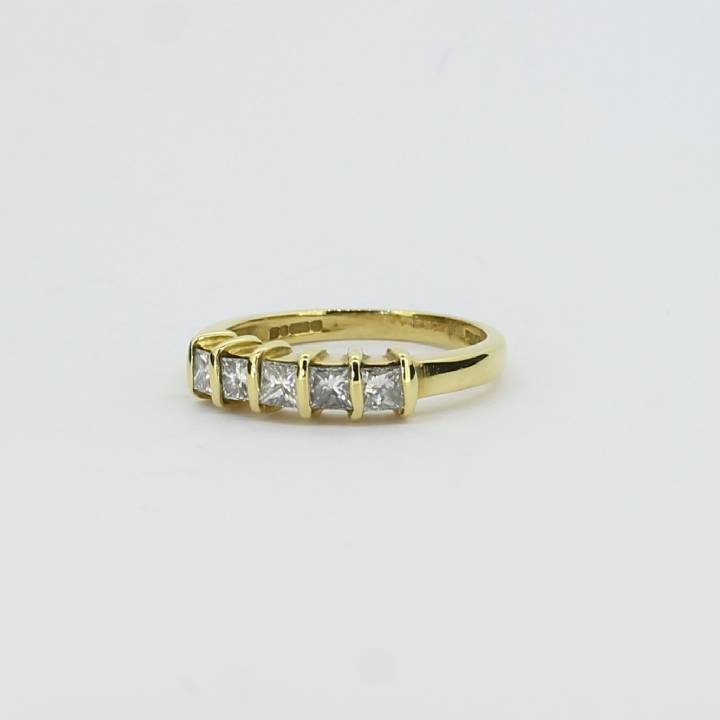 Pre-Owned 18ct Yellow Gold Diamond 5 Stone Ring 0.66ct Total