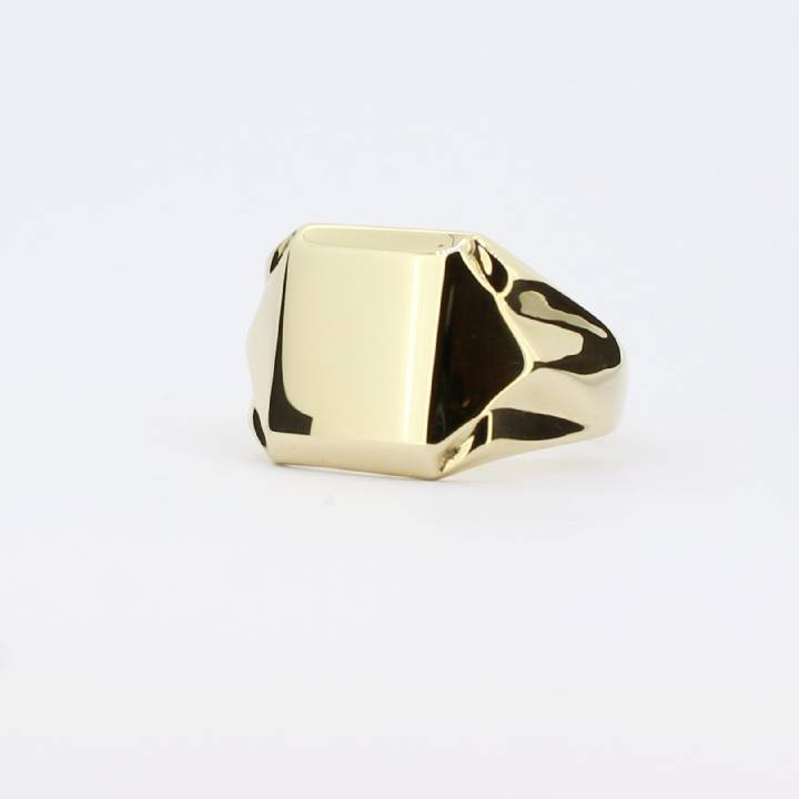 Pre-Owned Gents 9ct Yellow Gold Signet Ring