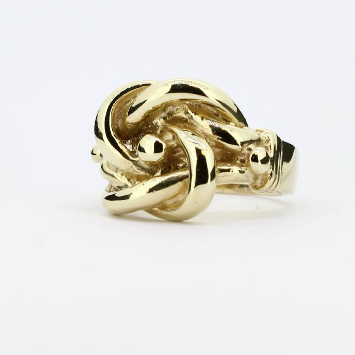 Pre-Owned Gents 9ct Yellow Gold Knot Ring 1508269