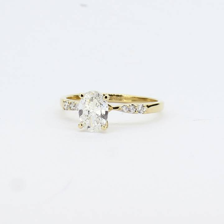 Pre-Owned 18ct Yellow Gold Diamond Solitaire Ring, 0.88ct