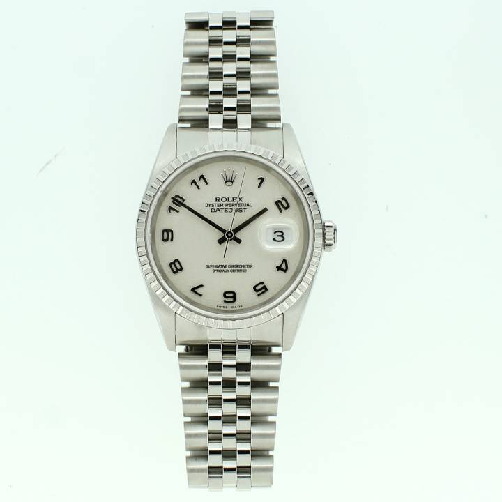 Pre-Owned Gents Rolex Datejust Watch, Silver Dial