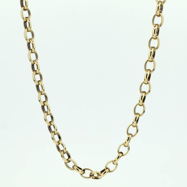 Pre-Owned 9ct Yellow Gold Oval Belcher Chain 20