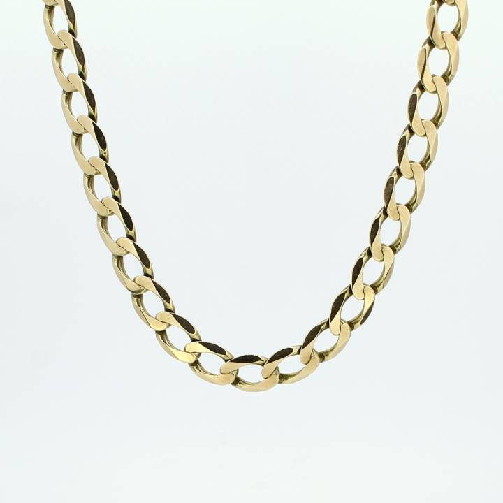Pre-Owned 9ct Yellow Gold Diamond Cut Curb Chain 22