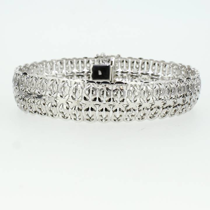 Pre-Owned 18ct White Gold Fancy Bracelet