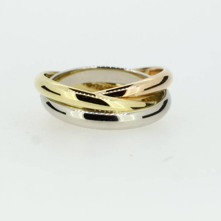 Pre-Owned 18ct 3 Colour Gold Russian Wedding Band 1515668