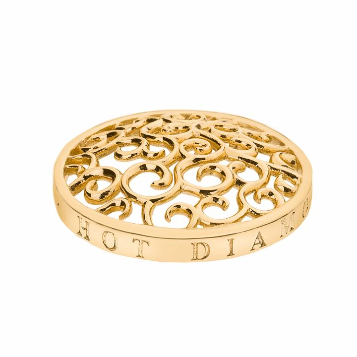 EMOZIONI Winding Path Yellow Gold Plate 25mm Coin, Was £24.95 2223179