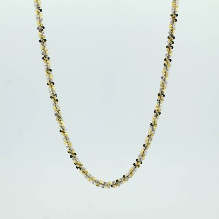 Pre-Owned 9ct 2 Colour Gold Fancy Chain 20