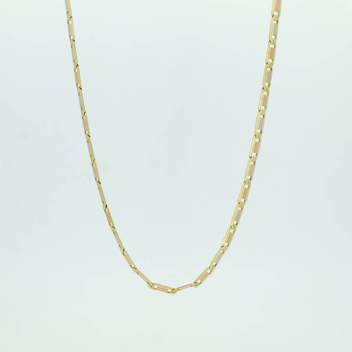 Pre-Owned 18ct 3 Colour Gold Fancy Link Chain 20