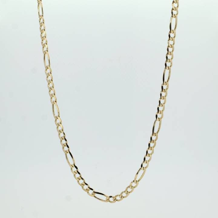 Pre-owned 9ct Yellow Gold Figaro Chain 24