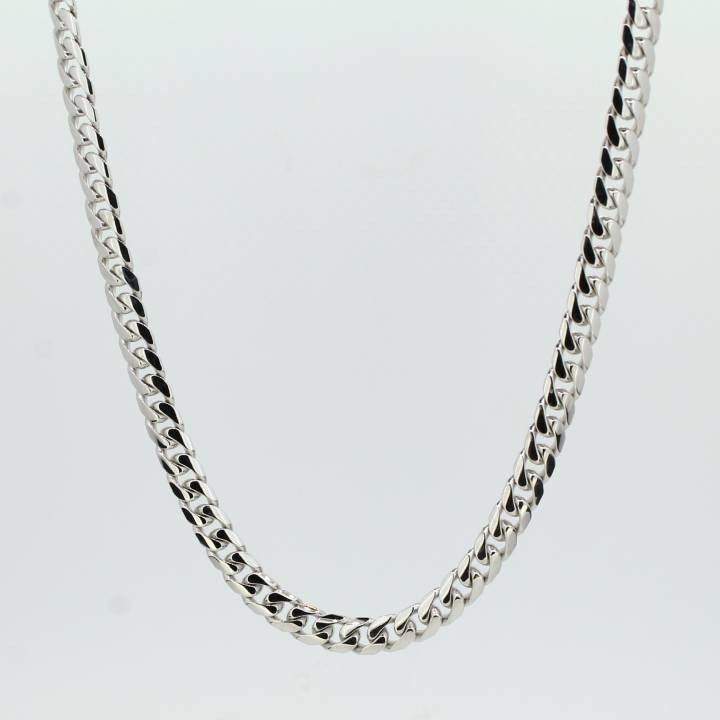 Pre-Owned 9ct White Gold Flat Curb Chain 22