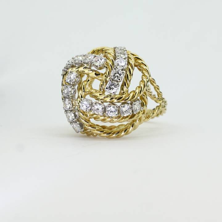 Pre-Owned 18ct Yellow Gold Diamond Cluster Ring 1.30ct