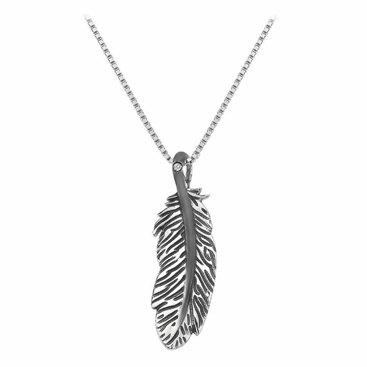 Hot Diamonds Single Feather Pendant And Chain, Was £69.95