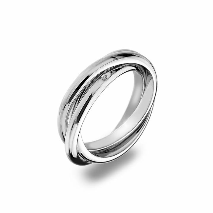 Hot Diamonds Trio Entwined 3 Hoop Ring, Size O, Was £69.95 2235008