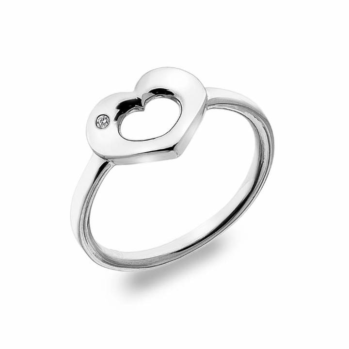 Hot Diamonds Emerge Heart Ring, Size M, Was £49.95 2244010
